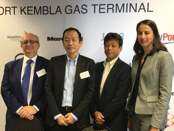 CEO of Squadron Energy, Stuart Johnston, Gaku Takagi, Senior Vice President , Fuel Business, Gas and Power Development, Masaru Kawata, General Manager, Energy Infrastructure, Marubeni Corporation and Marika Calfas, CEO of NSW Ports.